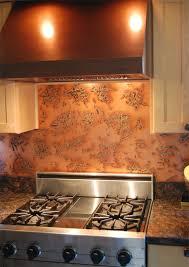 Copper Tiles For Backsplash by Copper Backsplash Copper Kitchen Backsplash