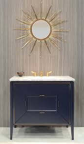 Foremost Palermo Bathroom Vanity by Amora Vanity By Ronbow Navy W Gold Inlay Tamalpais Faucet