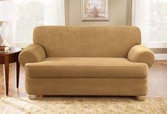Sure Fit Slipcovers Stretch Pique Separate Seat T Cushion Sofa T