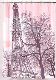 Eiffel Tower Bathroom Decor by Carnation Home Fashions Inc Bold Over Size Print Shower Curtains