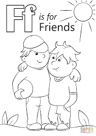 Click The Letter F Is For Friends Coloring Pages