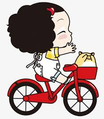 Riding Bike Rider Clipart