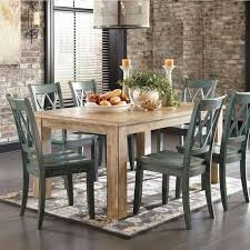 Michaela Driftwood Dining Set Table 4 Chairs