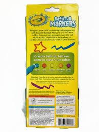 amazon com crayola bathtub markers with 1 bonus extra markers and