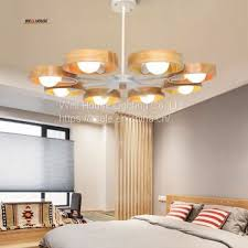 Nordic Wood Chandelier Lamp Modern Minimalist Dining Room Den Bedroom Living Creative Personality Wooden