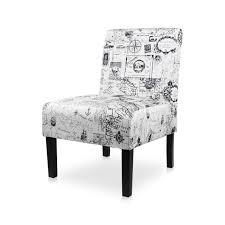 AODAILIHB Armless Accent Chair Modern Fabric Printing Leisure Chair Single  Sofa Deco Living Room Bedroom Office Armless Chair (MAP 1PCS)