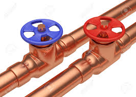 And Cold Water Pipes Photo by Plumbing Pipeline With Water And Cold Water Pipes Water Supply
