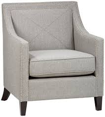 Grey Upholstered Dining Chairs With Nailheads by Amazon Com Jofran Upholstered Accent Ash Luca Club Chairs With