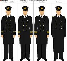 Uniforms worn by Titanic s officers