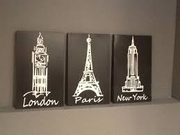 London Paris New York Black And White 3 Piece By CustomSignDisigns 4500 Bedroom DecorBlack
