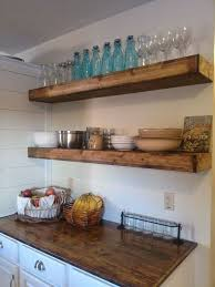 Floating Open Shelving Is A Popular Look For Rustic And Farmhouse Kitchens Can Be