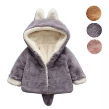 Ship From US Baby Infantil Autumn Winter Cute Kawaii Fox Hooded Coat Cloak Thick Warm Clothes Fashion Style Girl Snow Wear Outer