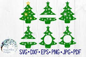 Christmas Tree Bundle Name Monogram Frame Example Image 1