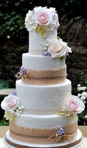 Barn Style Wedding Cake Form Tortebellacouk With Hessian