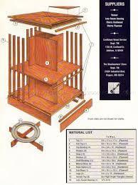 rotating bookshelf plans u2022 woodarchivist