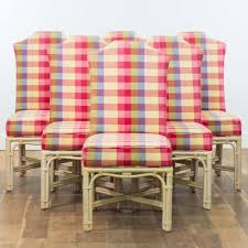 Set Of 6 Pink Gingham & Rattan Dining Chairs | Loveseat Vintage ... Christmas Lunch Laid On Farmhouse Table With Gingham Tablecloth And Rustic Country Ding Room With Wooden Table And Black Chairs 100 Cotton Gingham Check Square Seat Pad Outdoor Kitchen Chair Cushion 14 X 15 Beige French Lauras Refresh A Beautiful Mess Bglovin Black White Curtains Home Is Where The Heart Queen Anne Ding Chairs Painted Craig Rose Pale Mortlake Cream Laura Ashley Gingham Dark Linen In Cinderford Gloucestershire Gumtree 5 Top Tips For Furnishing Your Sylvias Makeover Emily Henderson