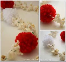 Christmas Tree Bead Garland Ideas by Tree Decorating Ideas Popcorn And Pom Pom Garland The Real