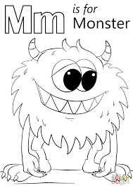Download Coloring Pages Monster Page Letter M Is For Free Printable