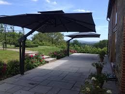 Large Cantilever Patio Umbrella by Toscana Large Cantilever Garden Parasol