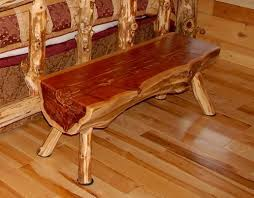 Stylish Inspiration Ideas Cedar Log Furniture 4 Ft Bench Rustic Red Hancrafted BEST