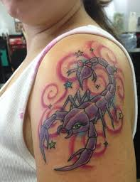 Feminine Scorpion Tattoo