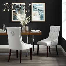 Faith White Leather PU Dining Chair - Set Of 2 | Tufted | Ring ... White Fniture Co Mid Century Modern Walnut Cane Ding Chairs Bross White Fabric Chair Resale Fniture Of America Livada I Cm3170whsc2pk Coastal Set 2 Leatherette Counter Height Corliving Hillsdale Bayberry Of 5791 802 4 Novo Shop Tyler Rustic Antique By Foa On 4681012 Pieces Leather In Black Brown Sydnea Acrylic Wood Finished Amazoncom Urbanmod