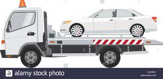 100 Tow Truck Vector White Tow Truck With Sedan Car On It Flat Vector With Solid Color