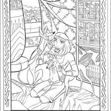 Ancient Egypt Mosaic Coloring Page