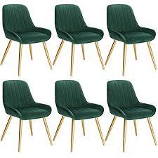 lestarain 6 stücke esszimmerstuhl retro küchenstuhl wohnzimmerstuhl sitzfläche aus samt retrostuhl mit metallbeine besucherstuhl stuhl für esszimmer