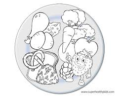 Healthy Food Coloring Pages In Nutrition Throughout Printable