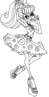 Monster High Operetta Coloring Page