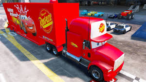 100 Lightning Mcqueen Truck McQueen Mack Transportation Disney Cars