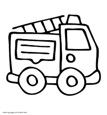Easy Fire Truck Coloring Pages | Free Coloring Pages