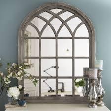Distressed Cream Sadie Arch Mirror