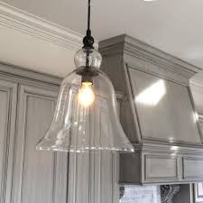 Large Crystal Lamp Finials by Clear Glass Bell Pendant Lighting With Extra Large Light Kitchen