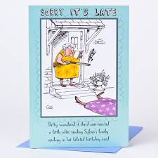 Belated Birthday Card Overreaction Only 59p