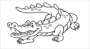 21 Alligator Templates Crafts Colouring Pages