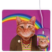 tapis et souris chat hippie prix pas cher cdiscount