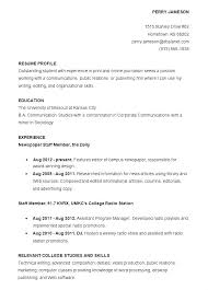 Sample Resume For Recent College Graduate Cover Letter Examples Graduates