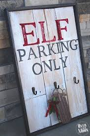 Bake Craft Sew Decorate Rustic Elf Parking Pallet Sign Christmas WoodPallet