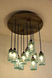 Mason Jar Light Fixture Fixtures How To Make A Chandelier