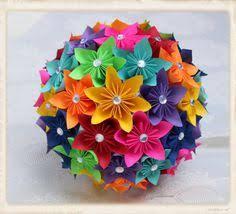 Paper Flower Bouquet Origami Kusudama