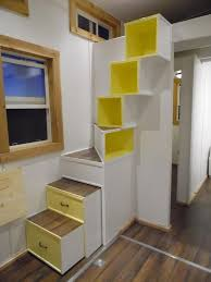 Skillful Design Tiny House Stairs A 144 Square Feet On Wheels Built By Upper Valley