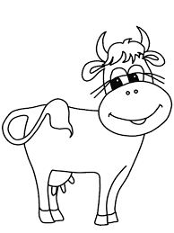 Cow Coloring Book Pages