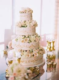 Bright And Colorful Ivory Wedding CakeClassic