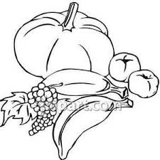 fruit and ve ables clipart black and white