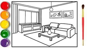 wohnzimmer malen und zeichnen für kinder wie zeichnet