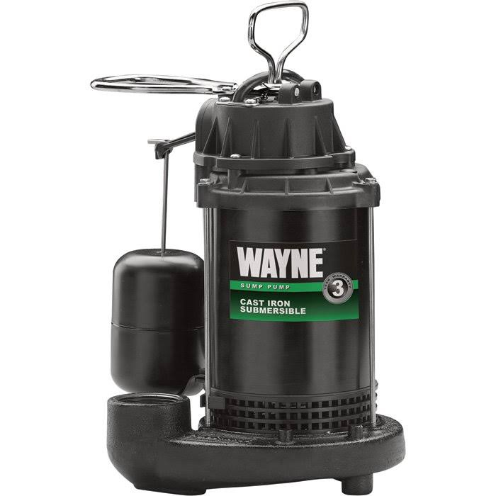 Wayne Submersible Cast Iron and Steel Sump Pump With Integrated Vertical Float Switch - 1/3 HP