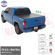 100 Truck Tonneau Hard Solid Trifold Cover For 0418 Ford F150 55ft