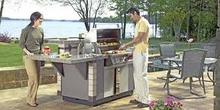 Outdoor Kitchen Lowes Awesome Design An Island Cozy
